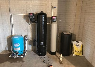 CSI Sidekick Filter and MS single tank water softener