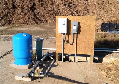New well and VFD constant pressure system for mulch plant